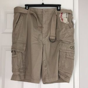 UNIONBAY men's cargo shorts khaki brown size 38